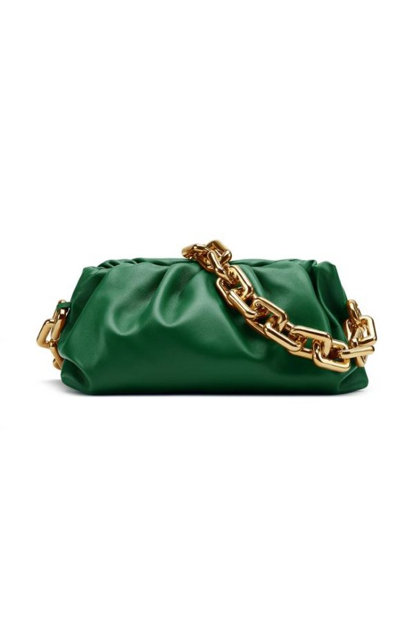 Bottega Veneta Green leather shoulder bag