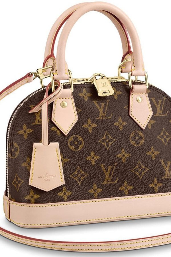 Alma BB Monogram Canvas Handbags LOUIS-VUITTON