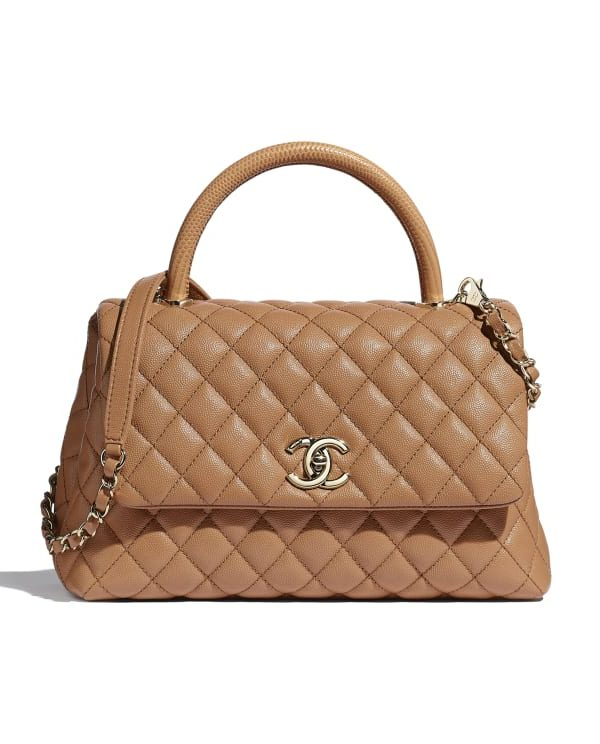CHANEL large flap bag with top handle - oxblood