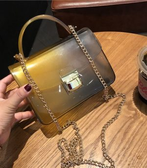 Jelly Rubber Hand Bag - Peru and Black